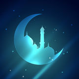 Islamic mosque illustration Stock Photography