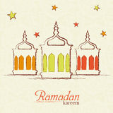 Islamic Mosque for Muslims holy month Ramadan Kareem celebration. Royalty Free Stock Images
