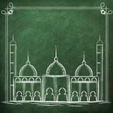 Islamic Mosque for Muslims holy month Ramadan Kareem celebration. Royalty Free Stock Photo