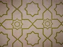 Islamic motives or art. As a wallpaper at the prayer room Stock Image