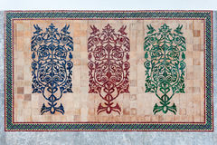 Islamic muslim mosaic wall decorative ornaments Stock Image
