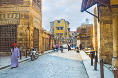 The islamic neighborhood of Cairo Royalty Free Stock Photos