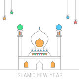 Islamic new year concept card Stock Image