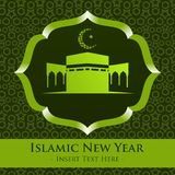 Islamic New Year Vector Template Stock Photography