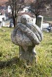 Islamic old gravestone in a cemetery in Sarajevo. Stock Image