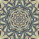 Islamic ornament , persian motiff . 3d ramadan islamic round pattern elements . Geometric circular ornamental arabic symbol. Gold background royalty free illustration