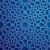 Islamic ornament vector , persian motiff . 3d ramadan islamic round pattern elements . Geometric circular ornamental. Blue background . Islamic ornament vector Stock Images