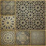 Islamic ornament vector , persian motiff . 3d ramadan islamic round pattern elements . Geometric circular ornamental. Arabic symbol vector royalty free illustration