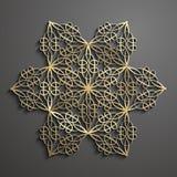 Islamic ornament vector , persian motiff. 3d ramadan islamic round pattern element . Geometric logo template set. Circular ornamental arabic symbol vector royalty free illustration