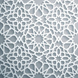 Islamic ornament vector , persian motiff . White background . Light 3d ramadan islamic round pattern elements. Islamic ornament vector , persian motiff . 3d Royalty Free Stock Photos