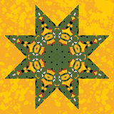 Islamic ornamental green star lace ornament Royalty Free Stock Photography