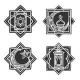 Islamic ornate emblem set Stock Images