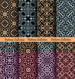 Islamic Pattern Backgrounds Luxury. Slamic pattern backgrounds. Vector seamless ornaments. Flourish oriental wallpaper design. Moroccan fabric print, fashion vector illustration
