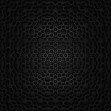 Islamic pattern | Black. An Islamic pattern in shiny black metallic material Stock Photography