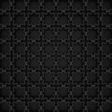 Islamic pattern | Black. An Islamic pattern in shiny black metallic material Royalty Free Stock Images