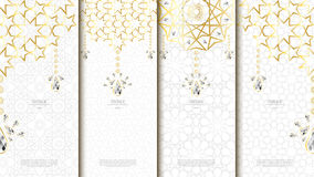 Islamic pattern element concept template with diamond vintage ba Royalty Free Stock Images
