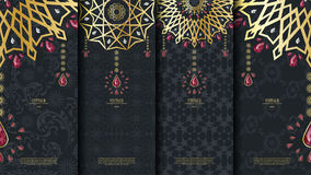 Islamic pattern element concept template with ruby vintage dark Royalty Free Stock Photo