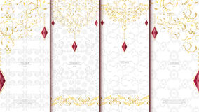 Islamic pattern element concept template white and gold texture Stock Images
