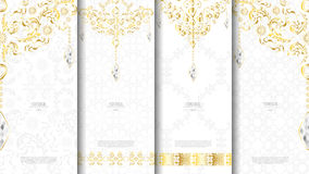 Islamic pattern element concept template white and gold texture Stock Photography