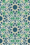 Islamic Pattern Green and blue Royalty Free Stock Photo