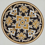 Islamic pattern in mosque. Interior Stock Photo