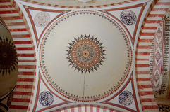 Islamic pattern in mosque Stock Image