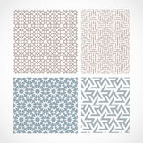 Islamic pattern. Set with traditional islamic ornament for design Stock Images