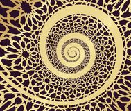 Islamic pattern, swirled in 3d spiral shape. Vector illustration vector illustration