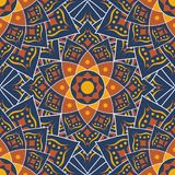 Islamic Pattern, Traditional Pattern. With Blue Design Royalty Free Stock Photography