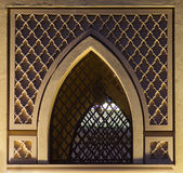 Islamic pattern window. Islamic traditional pattern window frame Royalty Free Stock Photo