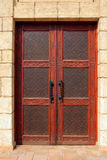 Islamic pattern on wooden door Royalty Free Stock Image