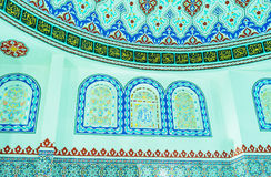 Islamic patterns in Alanya mosque Stock Photo