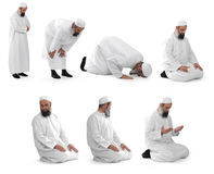 Islamic prayer done by muslim sheikh Stock Photography
