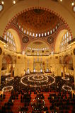 Islamic Prayer in Suleymaniye Mosque Royalty Free Stock Image