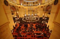 Islamic Prayer in Suleymaniye Mosque Royalty Free Stock Photography