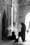 Islamic prayer. Islamic women praying at a mosq in Bangladesh Stock Images