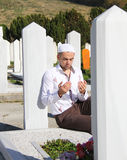 Islamic praying on dead person Royalty Free Stock Image