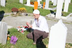 Islamic praying on dead person Royalty Free Stock Images