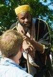 Islamic Preacher at Speaker's Corner London. Muslim preacher at the famous speaker's corner in Hyde Park, London Stock Photo