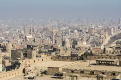 Islamic quarter of Cairo seen from the Saladin Citadel, Egypt Stock Image