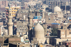 Islamic quarter of Cairo seen from the Saladin Citadel, Egypt Royalty Free Stock Image