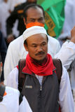 Islamic radical. Groups are doing a parade on the streets in the city of Solo, Central Java, Indonesia royalty free stock photos