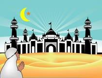 Islamic ramadan kareem background vector abstract. Illustrator design. desert background Stock Image