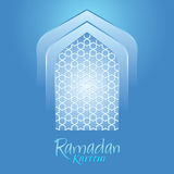 Islamic Ramadan Kareem Blue Background Stock Photo