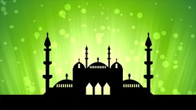 Islamic ramadan themed loopable background stock video footage