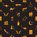 Islamic religion simple icons seamless pattern eps10 Stock Images