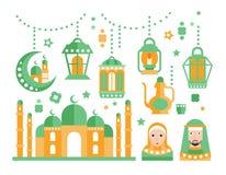 Islamic Religious Holiday Symbols Set Royalty Free Stock Photo