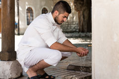 Islamic Religious Rite Ceremony Of Ablution Hand Washing Stock Photography