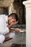 Islamic Religious Rite Ceremony Of Ablution Nose Washing Royalty Free Stock Photos
