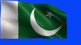 Islamic Republic of Pakistan, Flag of Pakistan - LOOP Stock Photos